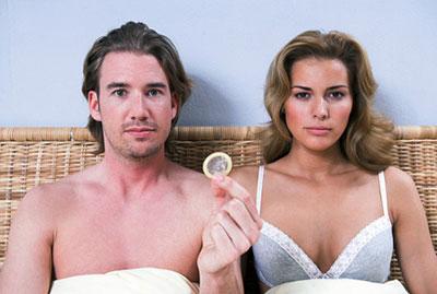 Пара с презервативом