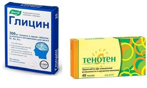 Для нормализации эмоционального фона пациентам часто назначают такие препараты, как Тенотен и Глицин