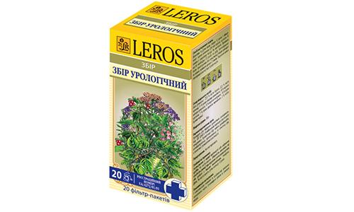 Лерос урологический отличается богатым составом - листья березы и толокнянки, трава птичьего горца и тысячелистника, корни стальника и петрушки, крапива, цветки бузины