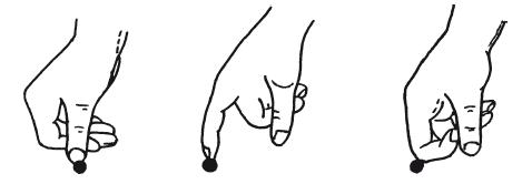 Основные положения пальцев при точечном массаже