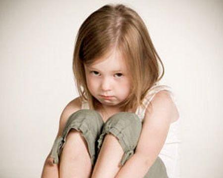 маленькая обиженная девочка